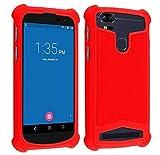 Coque Universelle Smartphone Etui Housse Pochette Compatible pour Energizer P550S Power Max (5,5' Pouces) (Coque Rouge)