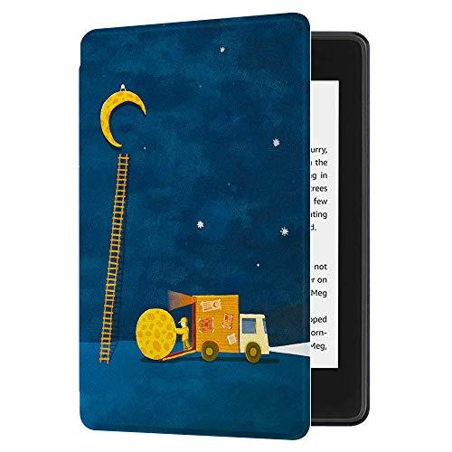 Huasiru Gemälde Hülle Schutzhülle Kindle Paperwhite (10. Generation, 2018 Veröffentlicht) Case Cover, Mond