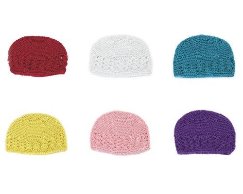 Großhandel 6x Baby Mädchen Jungen häkeln MützeStricken Beanie Hat (Großhandel Stirnbänder Und Accessoires)