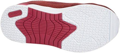 Kickers Knitwear, Baskets Basses Fille Rouge (Bordeaux Fushia)