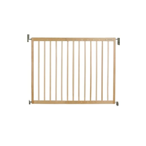 Lindam Wall Fix Extending Wooden Safety Gate Lindam Made from natural hardwood Wide walk through section with no step over bar Two way opening for maximum flexibility 1