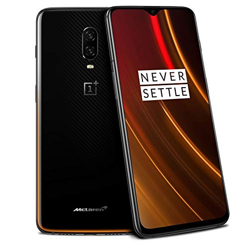 OnePlus 6T A6010 McLaren Edition 256GB Storage + 10GB Memory Factory Unlocked 6.41 Inch AMOLED Display Android 9 - Naranja