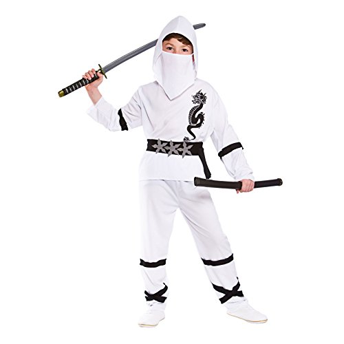 Power Ninja - White Kids Fancy Dress Costume