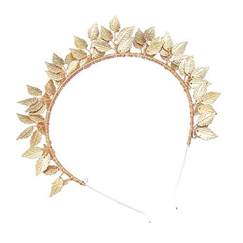 Sharplace Blätter Haarreif Haarspange Haarschmuck Haarklammer Haarband Stirnband für Hochzeiten Kommunion Festivals - Gold