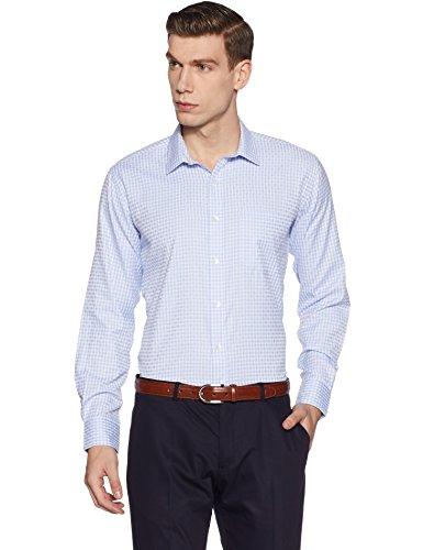 Symbol Amazon Brand Men's Regular Fit Formal Shirt (AW17MFS85_40_Sky)