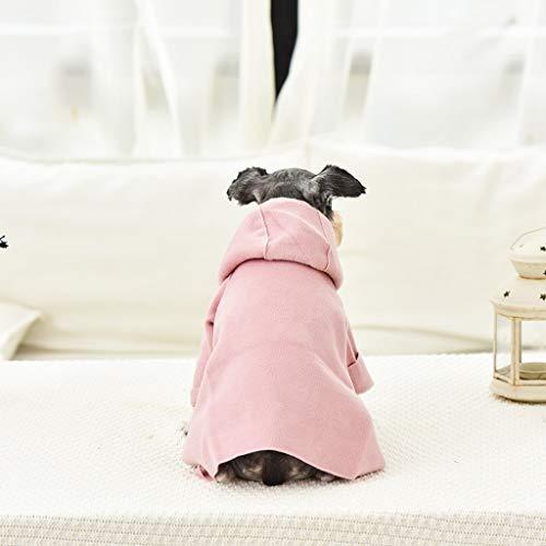 Yaohxu Herbst Winter Hunde Bekleidung Hund Kostüm Kleidung Haustier Hund Katze Weihnachten Santa Anzug mit Mütze Weihnachten Weich