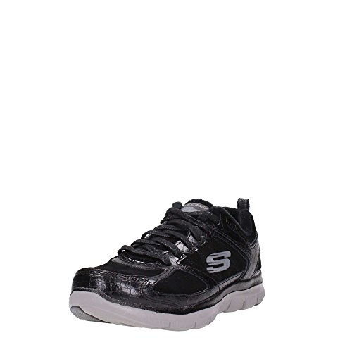 Skechers Flex Appeal 2.0 Soft Shock Women's Trainers fitness lite grey charcoral Noir