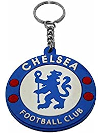 Key Era Single Sided Silicon Chelsea Football Club Multi Colour Rubber Keychain & Keyring For Bikes, Cars, Bags...