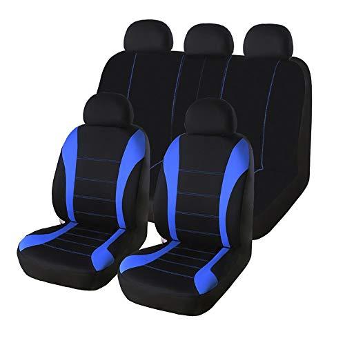 AUTO HIGH Coprisedili per Auto Set Completo - Panno in Mesh Traspirante Sedile Anteriore e Posteriore per Automobili Protegge Le coperture - per la Maggior Parte dei Camion per Auto SUV, Blu e Nero
