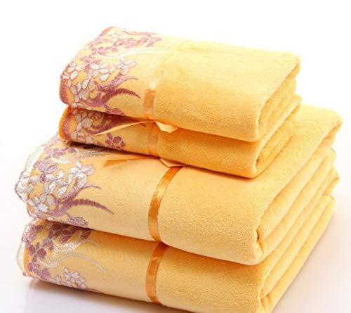 HUILIN 2 Teile/Satz mikrofaser Elegante gestickte Handtuch Sets solide 1 stück Gesicht Handtuch und 1 stück Badetuch schnell trocknend handtücher Bad für Erwachsene, als Foto, Handtuch Set 2 stücke - Monogrammiert Handtuch-set