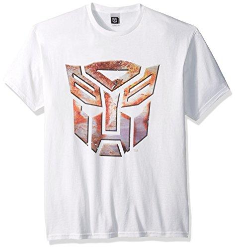 Megatron Kostüm - Transformers Herren T-Shirt Big Logo - Weiß - Klein