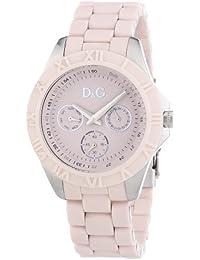 Dolce & Gabbana DW0780 - Reloj analógico de cuarzo para mujer con correa de caucho, color rosa