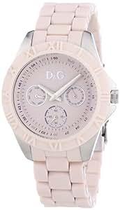 Dolce & Gabbana - DW0780 - Montre Femme - Quartz Analogique - Cadran Rose - Bracelet Caoutchouc Rose