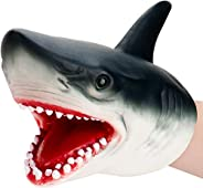 The White Shop Shark Puppet Role Play Toy Kids Realistic Soft Rubber Shark Hand Puppet for Boys Girls Kids