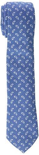 Scalpers STAMPA III TIE, Corbata para Hombre, Azul, Talla única (12193)