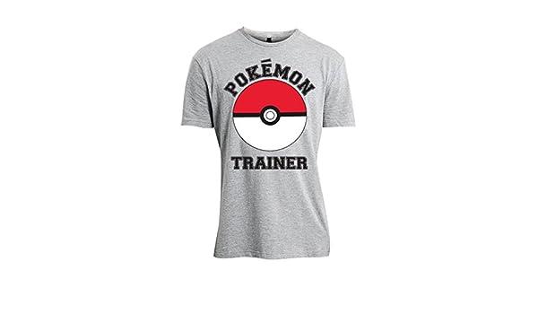 e2c072e4 Pokemon Official Mens Trainer Design Grey T-Shirt - Loose Fit New: Amazon.co .uk: Electronics
