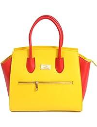 Matt e Desy collection - Bolso de asas de Piel para mujer giallo rosso