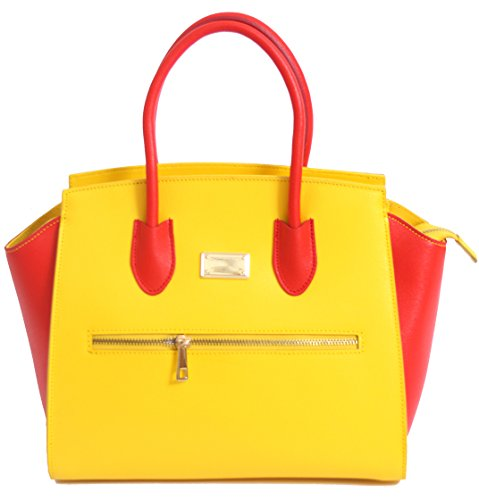 Matt e Desy collection , Sac à main pour femme giallo rosso