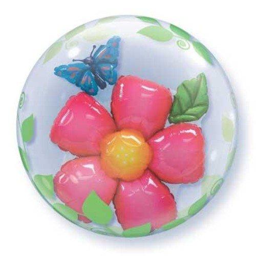 Unbekannt Qualatex 6880661cm Double Bubble Blätter Blume 1Bubble Ballon Pro Pack -