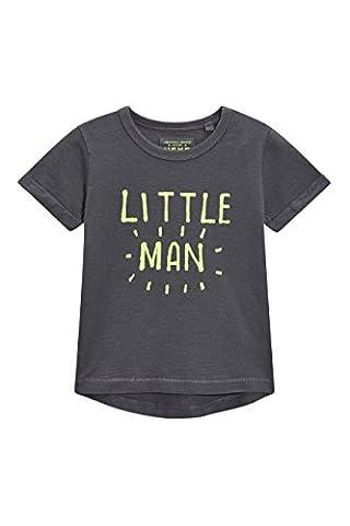 next Lot de deuxt-shirts bleus avec slogan Little Man (3mois à 6ans) Garçon Standard Vert/Gris 12-18 mois