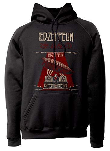 LaMAGLIERIA Unisex-Hoodie LED Zeppelin Mothership Grunge - Kapuzenpullover Rock Band, L, Schwarz