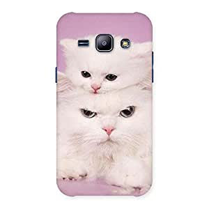 Delighted Kitty Family Back Case Cover for Galaxy J1