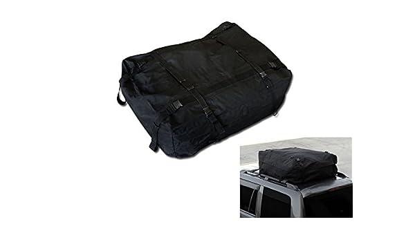 BLACK WATERPROOF ROOF TOP CROSS BAR RACK CARGO CARRIER BAG CAR//SUV//TRUCK//VAN CA