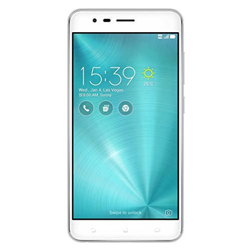 Asus ZenFone Zoom S ZE553KL Dual-SIM Smartphone (14 cm (5,5 Zoll) Full-HD Touch-Display, 64 GB Speicher, Android 6.0) silber (Glacier Silver)