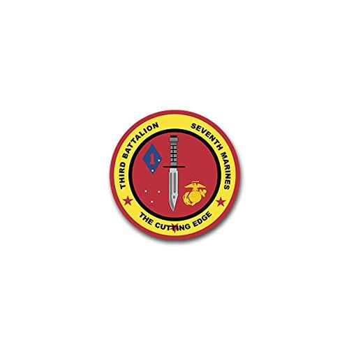 Aufkleber / Sticker -USMC 3rd Bataillon 7th Marines Regiment United States Marine Corps Infantry US Armee Militär Kampfmesser Wappen Abzeichen Emblem 7x7cm #A2270