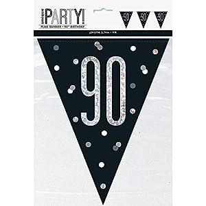 Unique Party- Bandera, Color black & silver (83432)