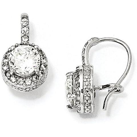 Icecarats Designer Di Gioielli Cheryl M Sterling Silver Cz Orecchini Filo Rene