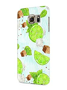 Cover Affair Summer Printed Designer Slim Light Weight Back Cover Case for Samsung Galaxy S7 Edge (Blue)