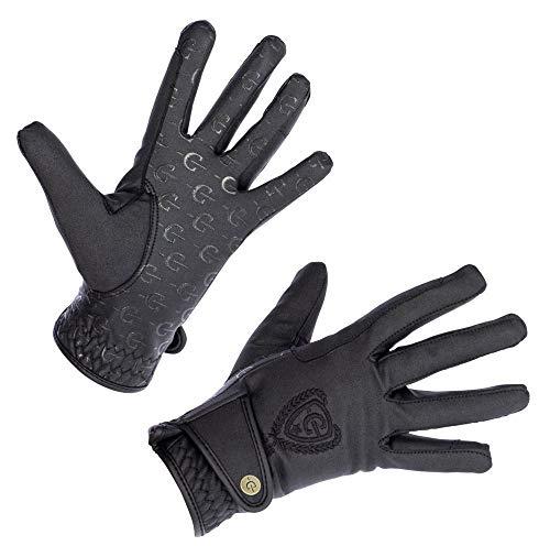 Kerbl Winter Reithandschuh Mora Thinsulate Fleece Handschuh mit Zügelverstärkung, schwarz, XS