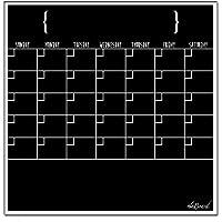 Ala Board Calendario magnetico cancellabile, fluorescente, colore: Nero [lingua italiana non garantita] - Dry Erase Calendario