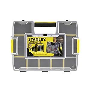 Stanley Organizer SortMaster Junior Werkzeugbox leer (Stapelbarer Sortimentskasten aus Kunsstoff mit 14 individuell anpassbaren Fächern für Kleinteile und Werkzeug) 1-97-483