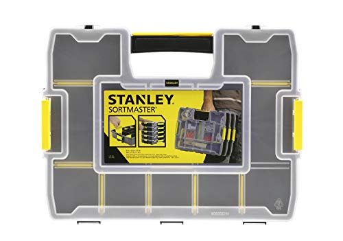Stanley 1-97-483 SortMaster Junior Organiseur avec 14 compartiments, Multicolore