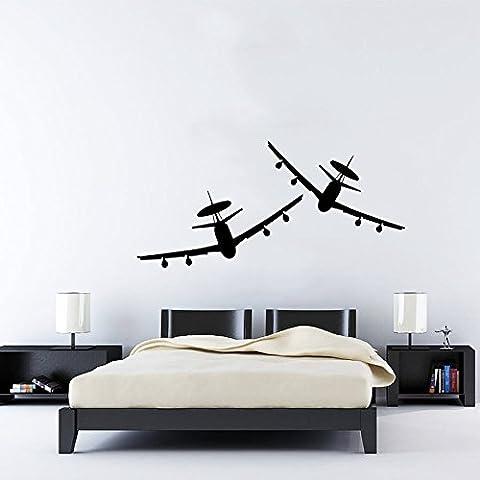 Stickers vinyle autocollant mural Art Home Decor Papier peint Motif Aircrafts Avion Militaire Air Fighter Jet Copter Avion Hélicoptère