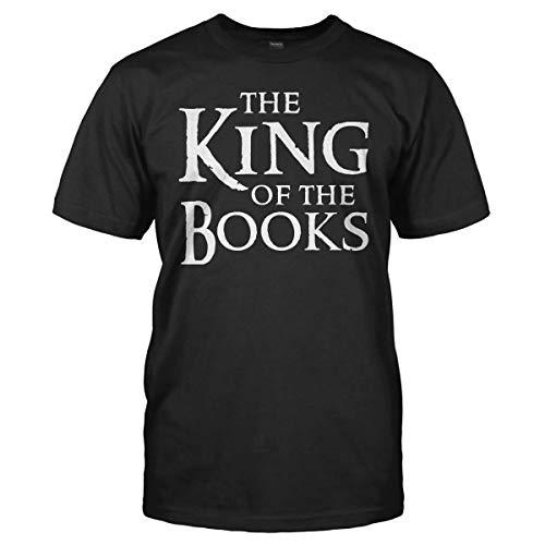 HIHIGO-Tops Bekleidung Männer, Kurzarm Casual Tees T-Shirt Wor88 Der König der Bücher Herrenmode Graphic Summer T Shirt T-Shirt (Color : Black, Size : 2XL) - Summer Graphic T-shirt