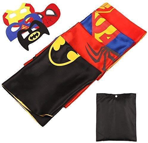 Mvpower Disfraces Superhéroes Niños Set 4 Máscaras