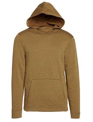 Life After Denim Herren Long Sleeve Westhope Fleece Pull Over Hoodie Sweatshirt Kapuzenpulli, Goldfarben/Olivgrün, Klein -