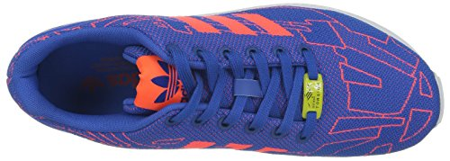 adidas Zx Flux, Chaussures de running mixte adulte Bleu (Satellite/Infrared/Running White Ftw)