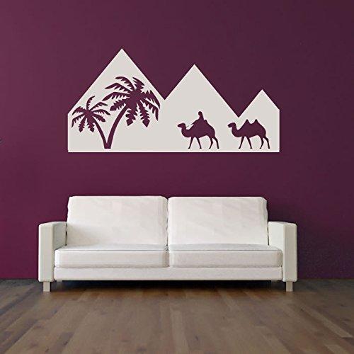 Piramidi egiziane Silhouette Wall Sticker egiziano Adesivo Art disponibile in 5 dimensioni e 25 colori Grande Rosso fragola - Fragola Piramide