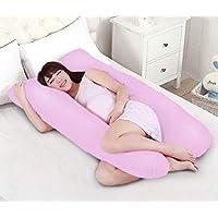 Novo Cotton Pink Free Size Pregnancy Pillow, 145 x 80 x 25cm - 1 Piece,Pink