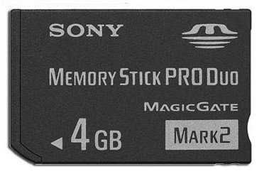 coloway New 4gb 4g Ms Memory Stick Pro Duo Card For Sony Psp Camera One Year Warranty