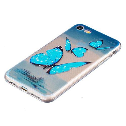 iPhone 7 Hülle Transparent,iPhone 7 Hülle Silikon,iPhone 7 Hülle Clear,iPhone 7 Hülle Glitzer,iPhone 7 Crystal Clear TPU Case Hülle Klare Ultradünne Silikon Gel Schutzhülle Durchsichtig Rückschale Etu TPU 13