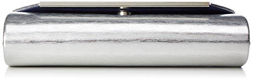 Tamaris Damen Crizia Hobo Bag Schultertaschen, 39 x 35 x 14 cm (silver)