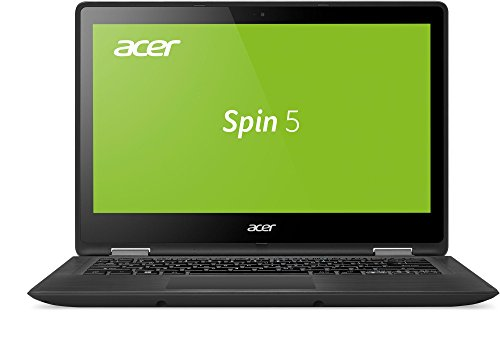Acer Spin 5 SP513-51-59GD 33,78 cm (13,3 Zoll Multi-Touch Full HD IPS) Convertible Notebook (Intel Core i5-7200U, 8GB RAM, 512GB SSD, HDMI, USB, Intel HD, Win 10 Home) schwarz