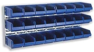 raaco Visual Système de stockage mural 32x 1litre poubelles W440X D1040X H184mm Réf 5733439105903