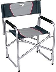 High Peak Cadiz Chaise de régisseur pliante Gris Clair/Gris Foncé 58 x 48 x 44 cm