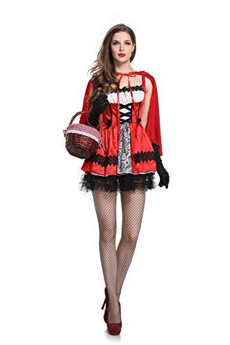 Olydmsky Weihnachtskostüm Damen,Weihnachten Kostüm Cosplay Erwachsene weibliche Little Red Riding Hood Kostüm Motto-Parties
